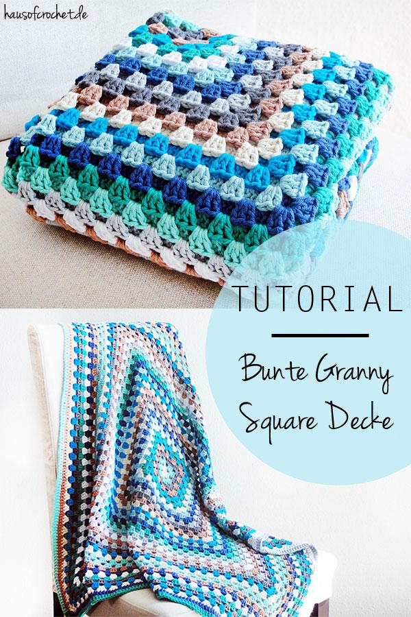 tutorial bunte granny square decke. Black Bedroom Furniture Sets. Home Design Ideas