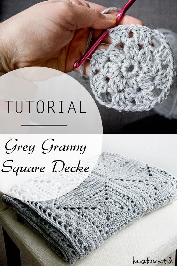 Tutorial Grey Granny Square Decke Hausofcrochetde