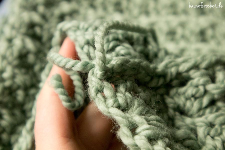Tutorial Einfachen Infinity Schal Häkeln Hausofcrochetde